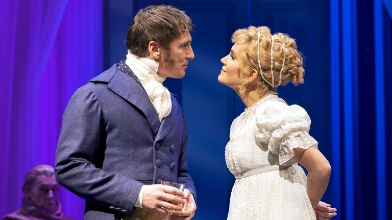 "Lora Lee Gayer and Brad Standley in Chicago Shakespeare Theater's production of ""Emma."" (Photo by Liz Lauren)"