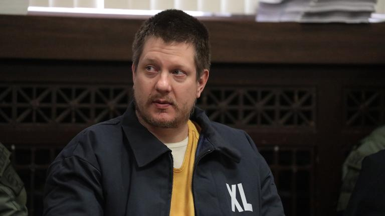 Former Chicago police Officer Jason Van Dyke listens in during his hearing at the Leighton Criminal Court Building, Friday, Dec. 14, 2018. (Antonio Perez / Chicago Tribune / pool)