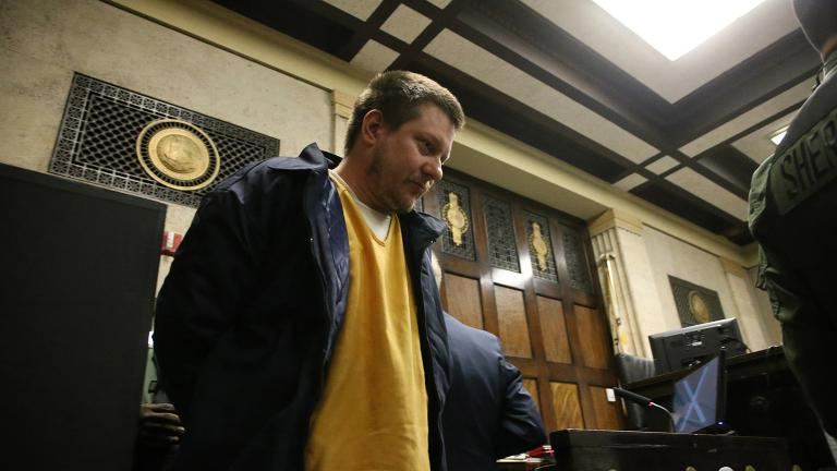 Former Chicago police Officer Jason Van Dyke attends a post-conviction hearing at the Leighton Criminal Court Building on  Dec. 14, 2018. (Antonio Perez / Chicago Tribune / Pool)