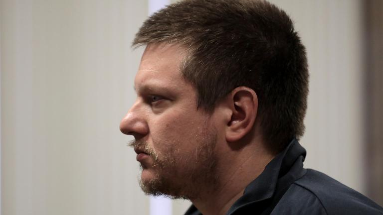 Former Chicago police Officer Jason Van Dyke attends a post-conviction hearing at the Leighton Criminal Court Building on Friday, Dec. 14, 2018. (Antonio Perez / Chicago Tribune / pool)