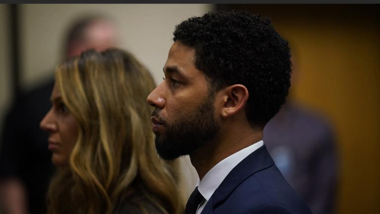 Jussie Smollett pleads not guilty at Leighton Criminal Court Building, Thursday, March 14, 2019. (E. Jason Wambsgans / Pool / Chicago Tribune)