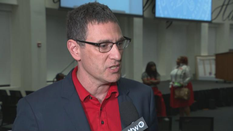 Chicago Teachers Union President Jesse Sharkey speaks with WTTW News on Wednesday, Oct. 2, 2019.