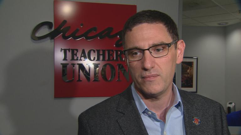 Chicago Teachers Union Vice President Jesse Sharkey (Chicago Tonight)