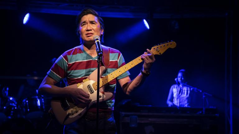"Greg Watanabe in the play ""Cambodian Rock Band."" (Photo by Liz Lauren)"