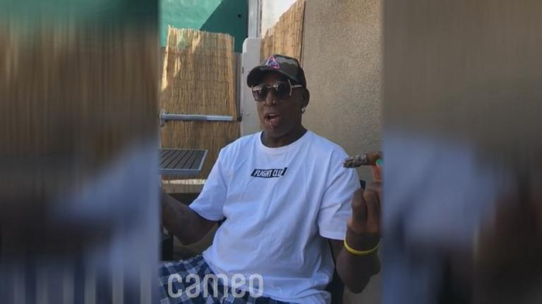 Fans can a buy a shout-out from Dennis Rodman for $1,000 on Cameo.