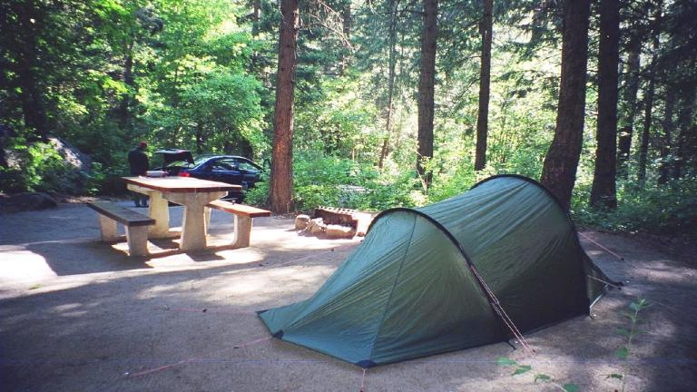 Campgrounds at Illinois state parks are reopened, with new guidelines in place. (Kelle Cruz / Flickr)