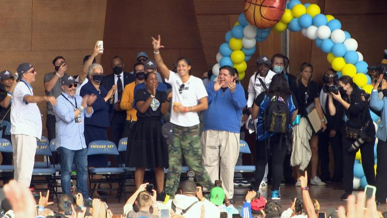 A key part of the Chicago Sky's championship success was Candace Parker. She came back to her hometown and led the Sky to the top. (Courtesy WNBA).