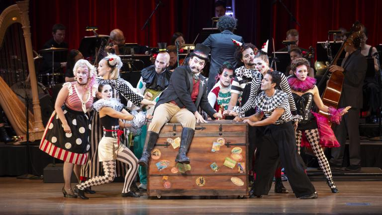"Ravinia's production of ""Candide (or Optimism)."" (Credit: Patrick Gipson / Ravinia Festival)"