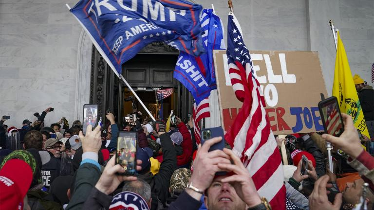 FILE - In this Jan. 6, 2021, file photo insurrections loyal to President Donald Trump riot outside the Capitol in Washington. (AP Photo  /John Minchillo, File)