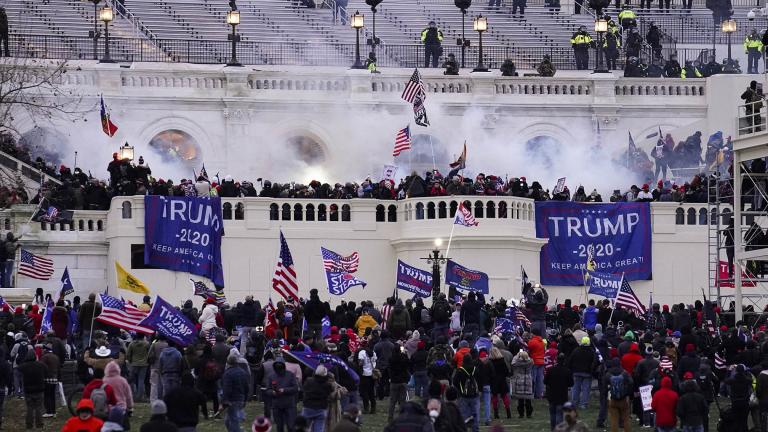 In this Wednesday, Jan. 6, 2021, file photo, violent protesters, loyal to President Donald Trump, storm the Capitol, in Washington. (AP Photo / John Minchillo, File)
