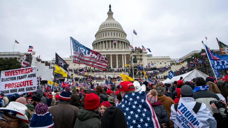 In this Jan. 6, 2021, file photo insurrections loyal to President Donald Trump rally at the U.S. Capitol in Washington. (AP Photo / Jose Luis Magana, File)