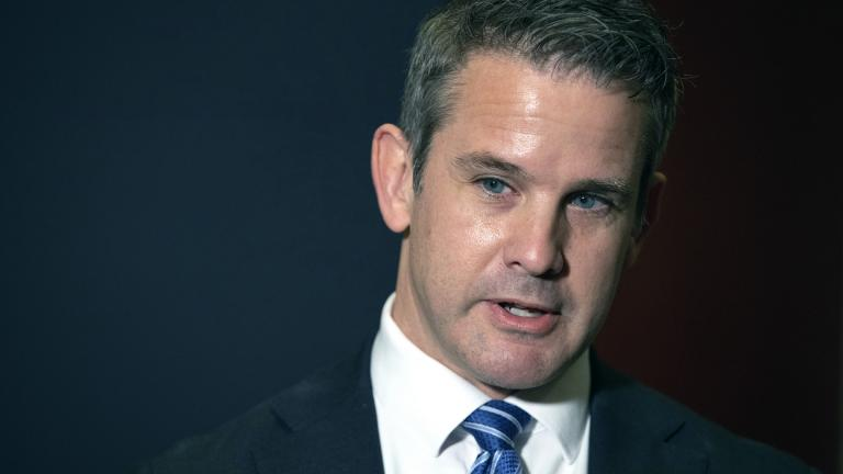 In this May 12, 2021 file photo, Rep. Adam Kinzinger, R-Ill., speaks to the media at the Capitol in Washington. (AP Photo / Amanda Andrade-Rhoades, File)