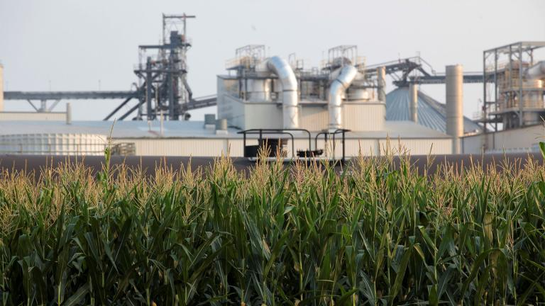 Project developers plan to build carbon capture pipelines connecting dozens of Midwestern ethanol refineries, such as this one in Chancellor, South Dakota, shown on Thursday, July 22, 2021. Corn absorbs the greenhouse gas carbon dioxide, but the process of fermenting it into ethanol releases carbon dioxide emissions. (AP Photo / Stephen Groves)