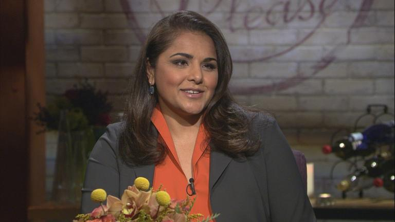 """Check, Please!"" host Alpana Singh speaks with ""Chicago Tonight."" (WTTW News)"