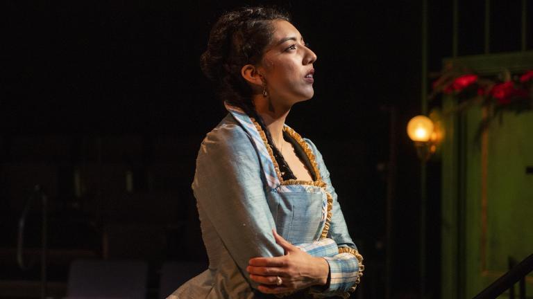 "Cher Álvarez (Nora) in ""A Doll's House."" (Photo by Michael Brosilow)"