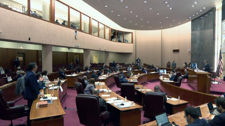 Members of the Chicago City Council meet on Wednesday, May 26, 2021. (WTTW News)