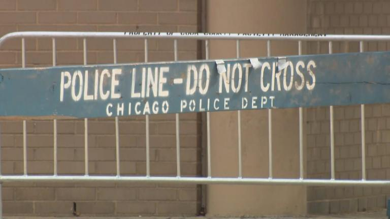 A file photo of a Chicago crime scene. (WTTW News)
