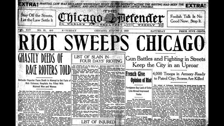 The Chicago race riots of 1919 (Courtesy of the Chicago Defender)