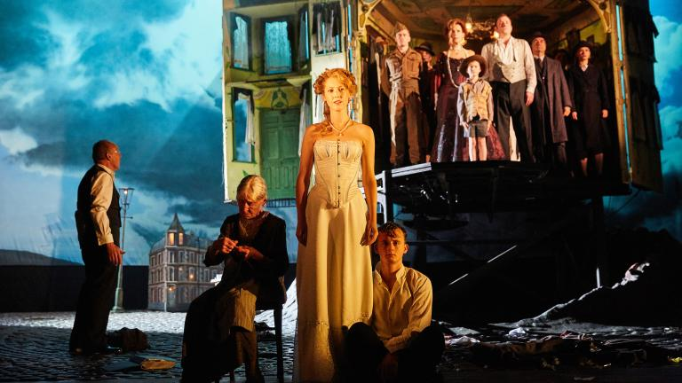 """The National Theatre of Great Britain's award-winning production of J.B. Priestley's thriller """"An Inspector Calls."""" (Photo by Mark Douet)"""