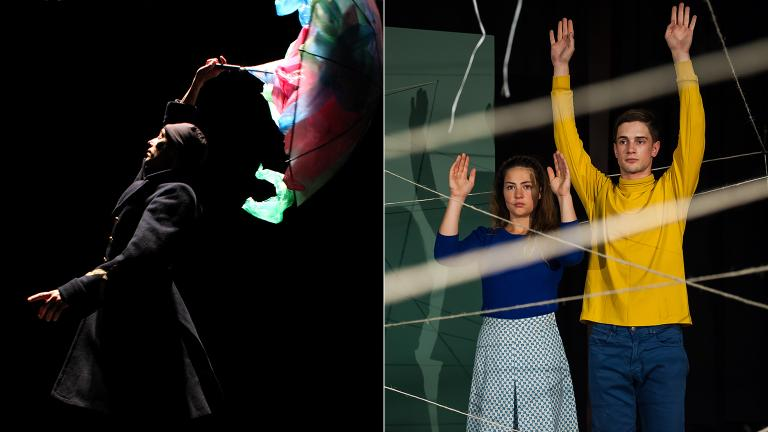 """L'Apres-Midi d'un Foehn, Version I,"" left, and ""Us/Them"" are currently on stage at Chicago Shakespeare Theater."