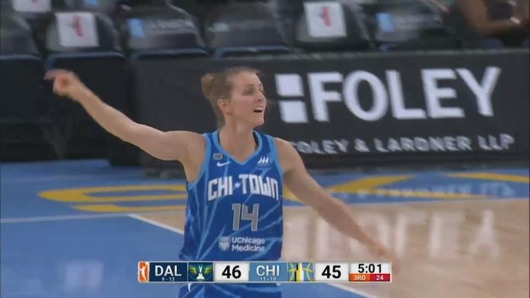 The Chicago Sky is hosting the Dallas Wings Thursday at 7 p.m. for the first round of the WNBA's playoffs. (Courtesy WNBA)