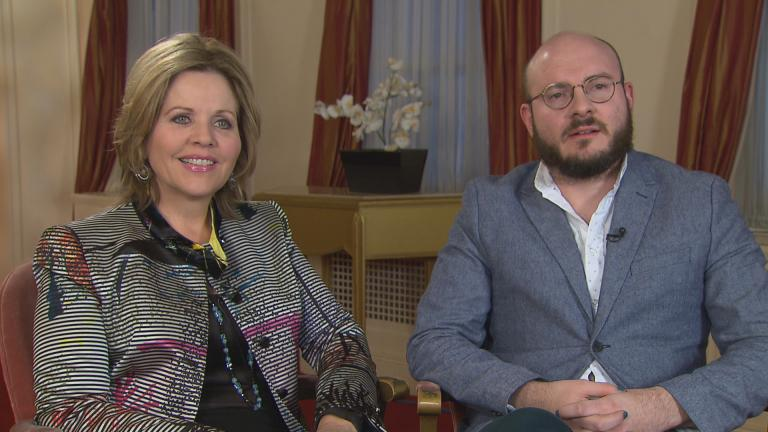 """Renée Fleming and Doug Peck talk with """"Chicago Tonight"""" about the upcoming concert."""