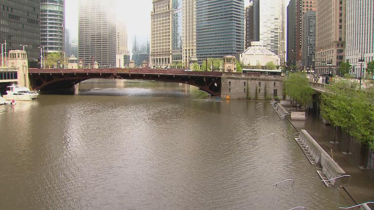 Record rainfall in May has caused the Chicago River to rise and has taxed the region's storm sewers. (WTTW News)