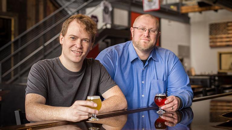 Jeremy Hylen and Joel Gratcyk of Chicagos.Beer