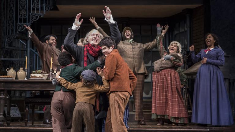 "The cast of ""A Christmas Carol"" at the Goodman Theatre. (Photo: Liz Lauren)"