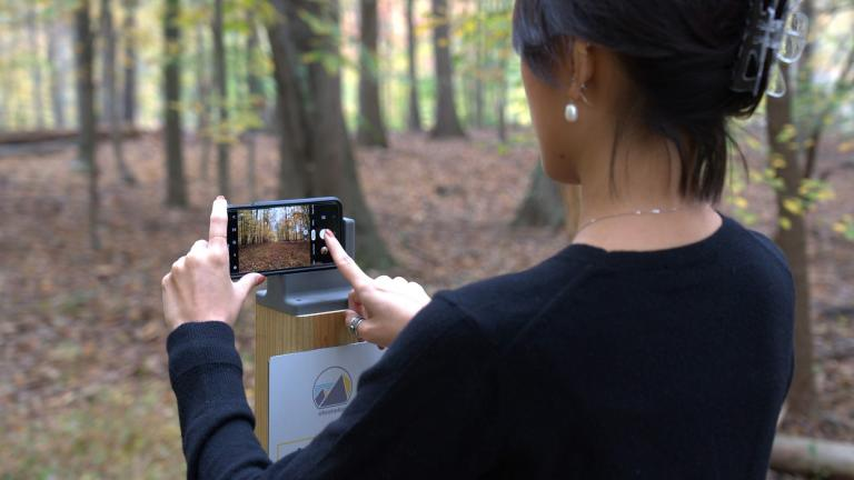 A Chronolog station in the wild. (Courtesy of Chronolog)