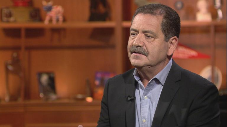 "Jesus ""Chuy"" Garcia appears on ""Chicago Tonight"" on Oct. 1, 2018."
