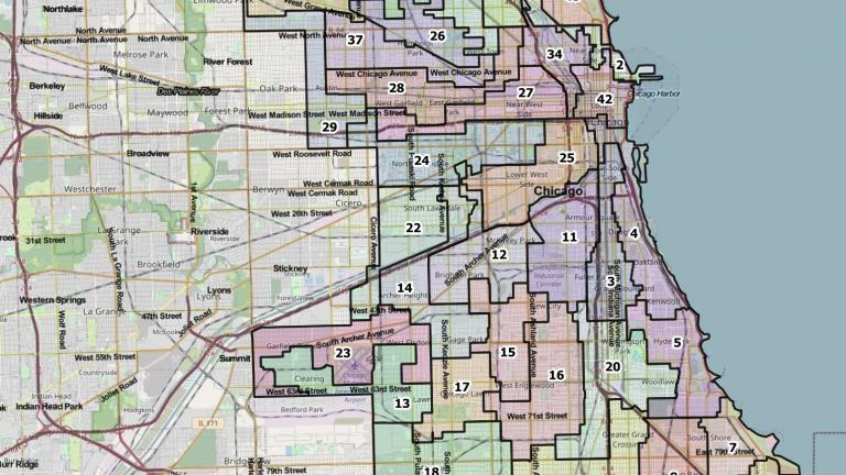 A proposed Chicago Ward Map from the Chicago City Council's Latino Caucus. [Provided]