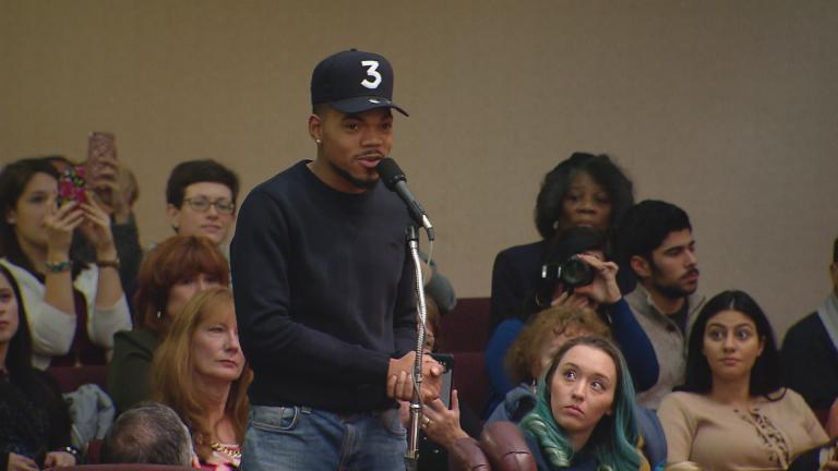 Chance the Rapper addresses City Council on Wednesday.