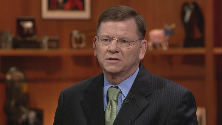 """Laurence Msall of the Civic Federation shares his reaction to Gov. Bruce Rauner's state of the state address on Jan. 25 on """"Chicago Tonight."""""""