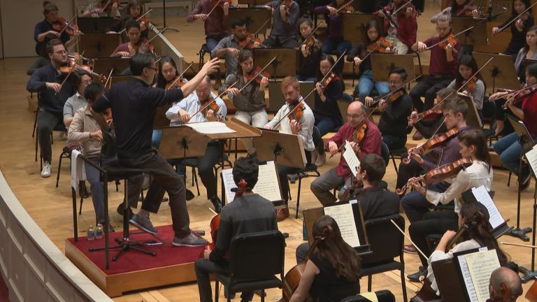 A rehearsal of the Civic Orchestra of Chicago. (WTTW News)