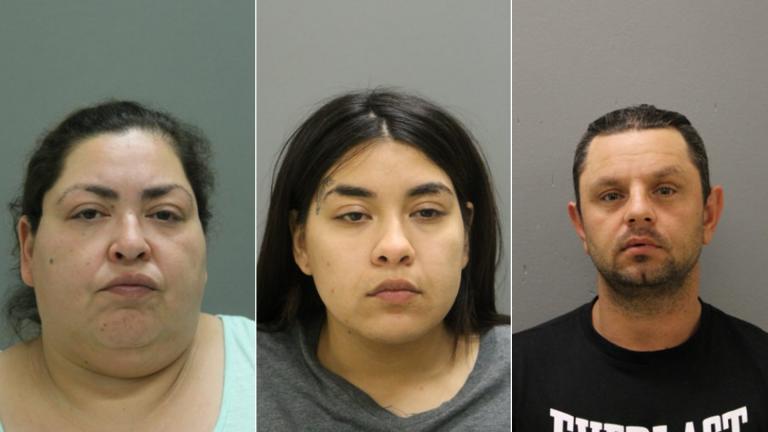 Clarisa Figueroa, left, Desiree Figueroa, center, and Piotr Bobak (Chicago Police Department)