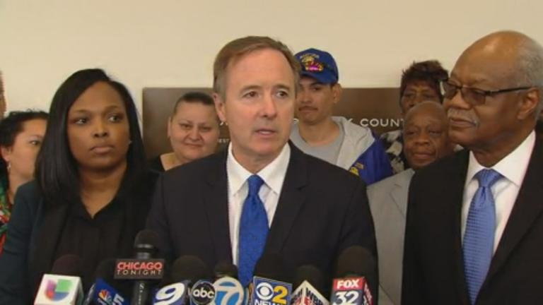 """""""Obviously we're very disappointed in the judge's ruling that it is permissible for the state of Illinois to discriminate on the basis of race,"""" said CPS CEO Forrest Claypool on Friday. (Chicago Tonight)"""