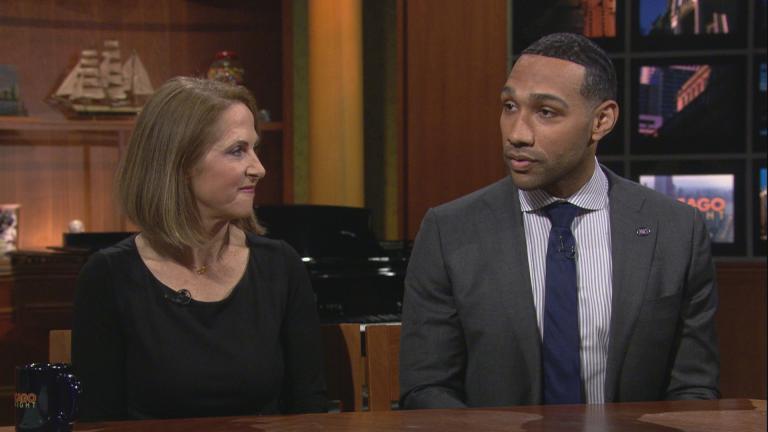 "Filmmaker Lynn Novick and Bard Prison Initiative graduate Dyjuan Tatro discuss the series ""College Behind Bars"" on ""Chicago Tonight."" (WTTW News)"