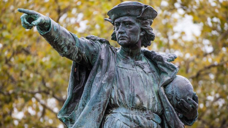 Statue of Christopher Columbus (Kenneth C. Zirkel / Wikimedia Commons)