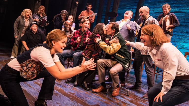 "Hit Broadway musical ""Come From Away"" runs through Aug. 18 at the Cadillac Palace Theatre. (Photo Credit: Matthew Murphy)"