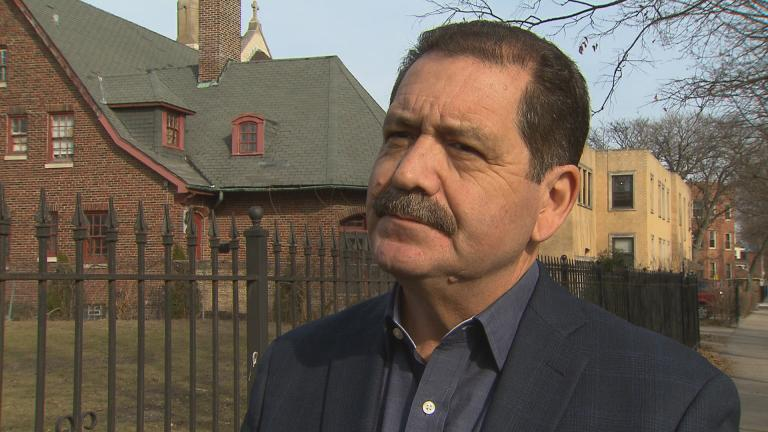 """Cook County Commissioner Jesus """"Chuy"""" Garcia (D-Chicago) speaks with """"Chicago Tonight"""" in February 2017."""
