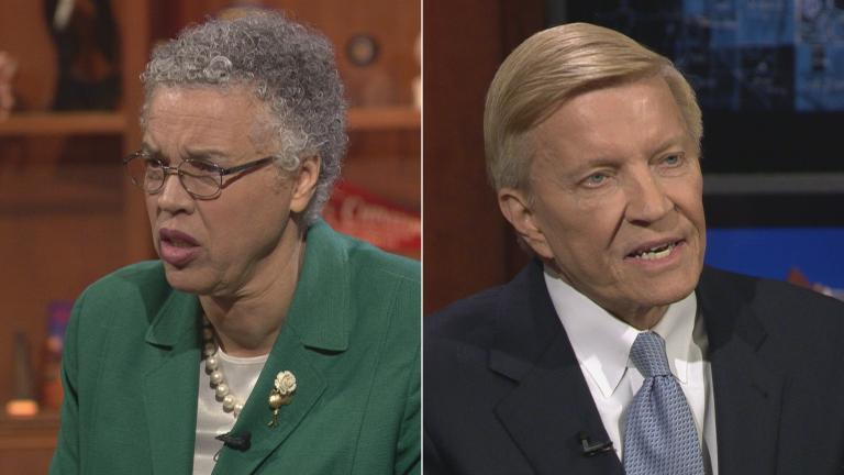 "Cook County Board President and former Ald. Bob Fioretti appear on ""Chicago Tonight"" on March 7, 2018."