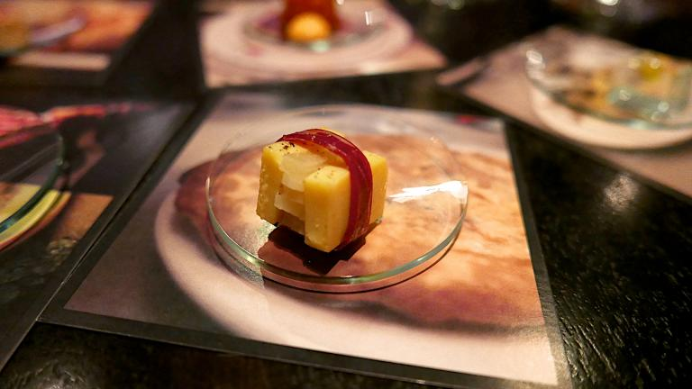 An item from Alinea's menu in 2015. (Lou Stejskal / Flickr)
