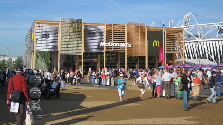 McDonald's at the London 2012 Summer Olympics. (Phil Richards / Flickr)