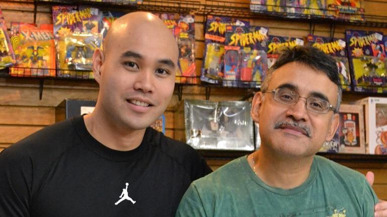 Variety Comics co-owners Vin Nguyen (left) and Victor Olivarez. (Photo/Kristen Thometz)