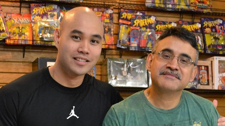 Variety Comics co-owners Vin Nguyen (left) and Victor Olivarez. (Photo/Kristen Thometz)