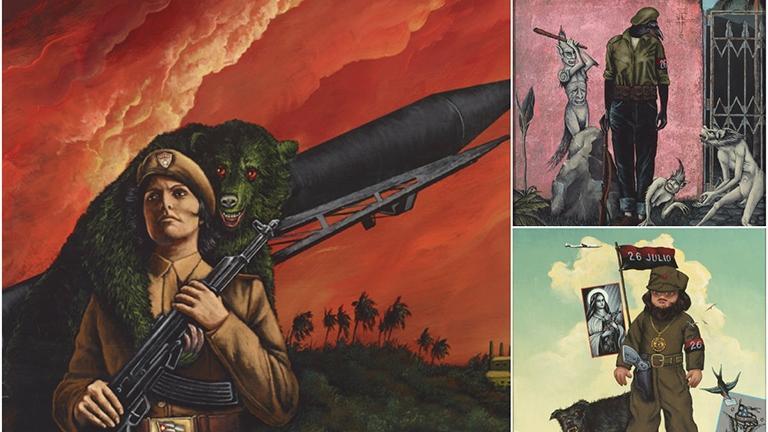 Paintings by George Klauba.