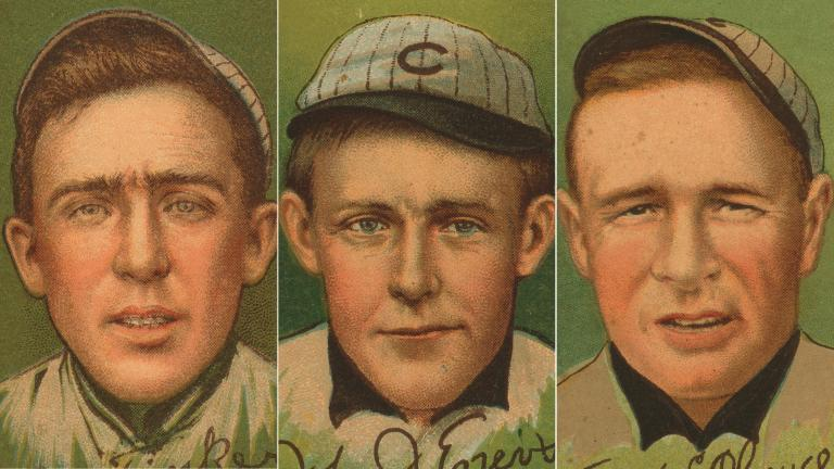 From left: Joe Tinker, Johnny Evers and Frank Chance.