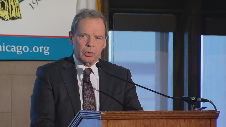 Illinois Senate President John Cullerton speaks Monday at the City Club of Chicago.