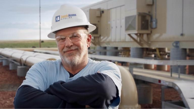 Illinois workers, and jobs, were front and center in a Dakota Access pipeline ad that aired during Super Bowl LIV on Sunday, Feb. 2, 2020. (Energy Transfer / YouTube)